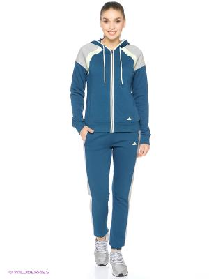 Спортивный костюм YOUNG COTT SUIT Adidas. Цвет: морская волна