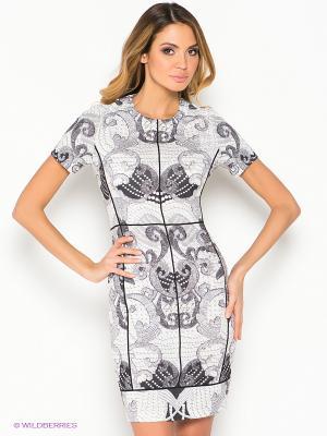 Платье Stilla. Цвет: черный, серый