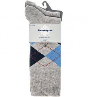 Комплект из двух пар серых носков Burlington. Цвет: серый