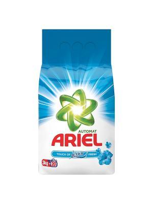Стиральный порошок Автомат, Touch of Lenor fresh 3кг. Ariel. Цвет: зеленый, белый