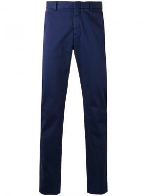 Классические брюки чинос Z Zegna. Цвет: синий