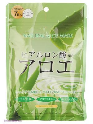 Japan Gals Курс натуральных масок для лица с экстрактом алоэ 7 шт. Цвет: прозрачный