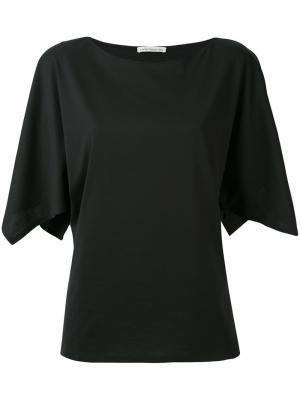 Блузка с расклешенными рукавами Stefano Mortari. Цвет: чёрный