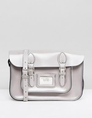 Leather Satchel Company Портфель. Цвет: серый