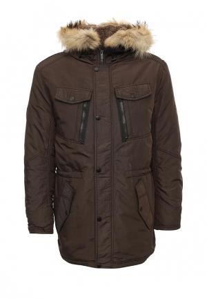 Куртка утепленная Conver. Цвет: коричневый