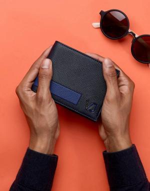 Versace Jeans Темно-синий бумажник. Цвет: темно-синий