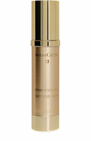 Крем для лица Silky Gold Cream Swissgetal. Цвет: бесцветный