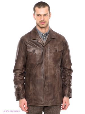 Куртка STEFANO FERRI. Цвет: серо-коричневый