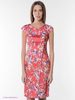 Платье KEY FASHION. Цвет: розовый, синий, зеленый