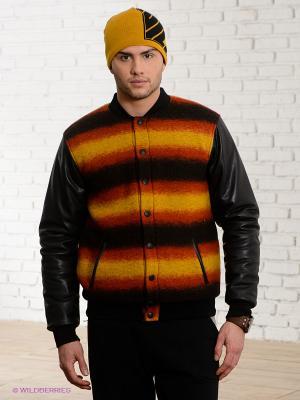 Куртка IUTER. Цвет: черный, оранжевый, желтый