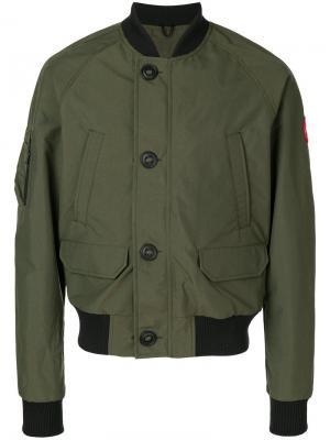 Куртка-бомбер Faber Canada Goose. Цвет: зелёный