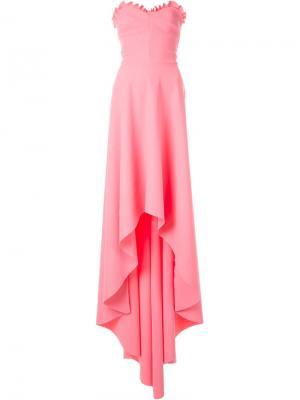 Драпированное платье Greta Constantine. Цвет: розовый и фиолетовый