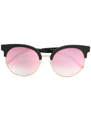 Круглые солнцезащитные очки с градиентными линзами Matthew Williamson. Цвет: чёрный