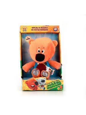 Мягкая игрушка Мульти-Пульти медвежонок Кеша 20 см, озвученный.. Цвет: оранжевый, синий