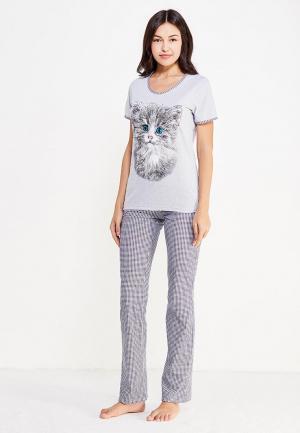 Пижама Miss & Missis. Цвет: серый