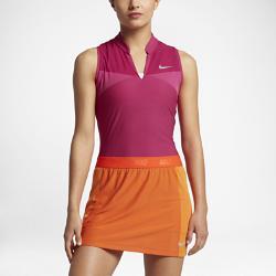 Женская рубашка-поло для гольфа  Zonal Cooling Swing Knit Racerback Nike. Цвет: пурпурный