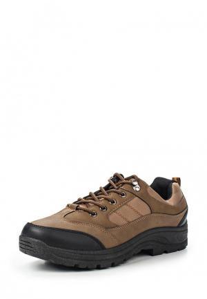 Ботинки трекинговые Leerd. Цвет: коричневый