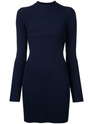 Платье мини Density Dion Lee. Цвет: синий