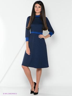 Платье La Fleuriss. Цвет: темно-синий