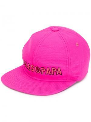 Кепка с вышитым логотипом Filles A Papa. Цвет: розовый и фиолетовый