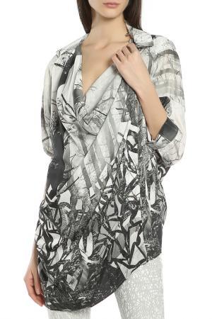 Блузка Oblique. Цвет: серый-белый