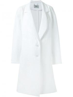 Однобортное пальто свободного кроя Rachel Comey. Цвет: белый
