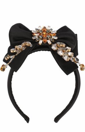 Ободок с отделкой из кристаллов Dolce & Gabbana. Цвет: разноцветный