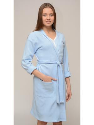 Платье-халат женский Ням-Ням. Цвет: голубой