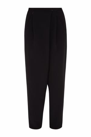 Однотонные брюки VIKTORIA IRBAIEVA. Цвет: черный