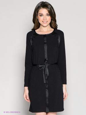 Платье 18CRR81 CERRUTI. Цвет: черный