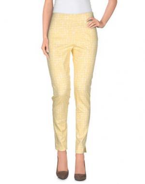 Повседневные брюки BLU BIANCO. Цвет: светло-желтый