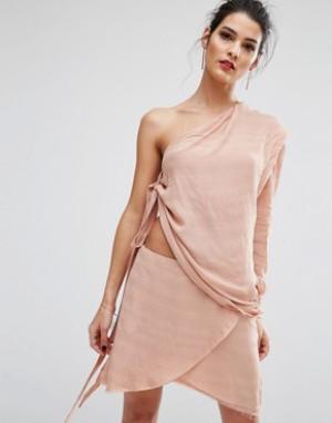 Bec & Bridge Платье Rosewod. Цвет: розовый