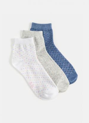 Комплект из 3 пар носков для девочек OSTIN. Цвет: белый