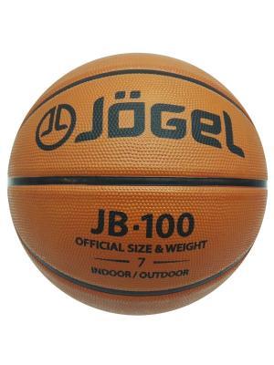 Мяч баскетбольный Jogel JB-100 №7. Цвет: коричневый