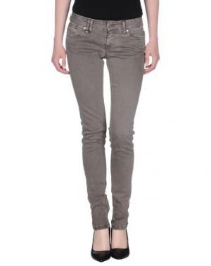 Джинсовые брюки BAD SPIRIT. Цвет: темно-коричневый