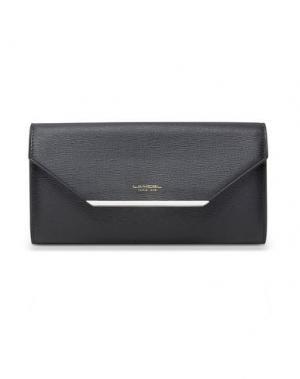 Бумажник LANCEL. Цвет: черный