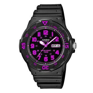Кварцевые часы  Collection MRW-200H-4C Casio. Цвет: серый,фиолетовый