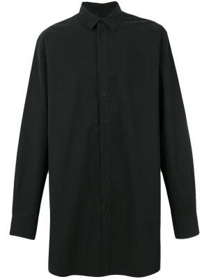 Удлиненная рубашка со шнуровкой сзади D.Gnak. Цвет: чёрный
