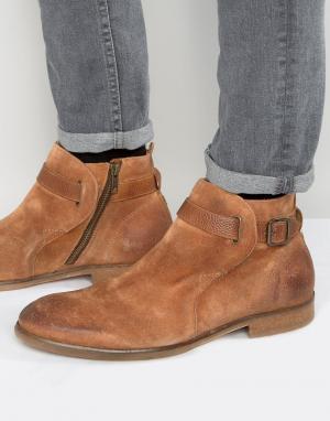 Hudson London Замшевые ботинки Hank Jodphur. Цвет: рыжий