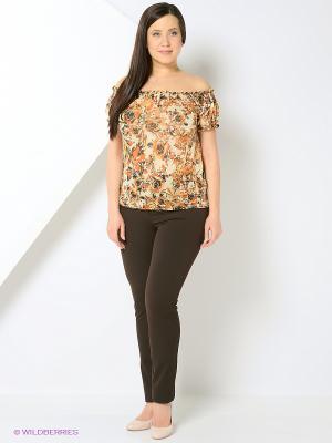 Блузка RUXARA. Цвет: коричневый