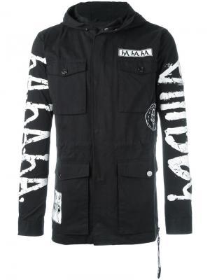 Куртка с принтом и капюшоном Haculla. Цвет: чёрный