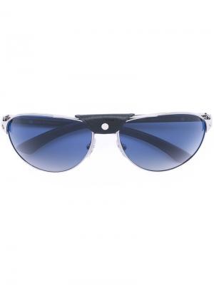 Солнцезащитные очки с заклепкой на мосту Cartier. Цвет: металлический
