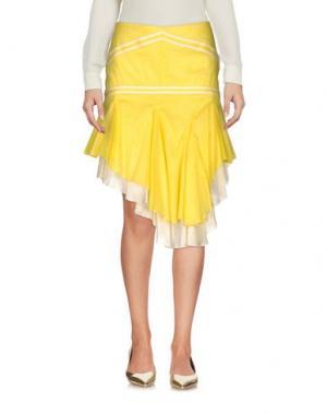 Юбка до колена EXTE. Цвет: желтый
