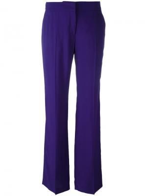 Классические расклешенные брюки Nº21. Цвет: розовый и фиолетовый