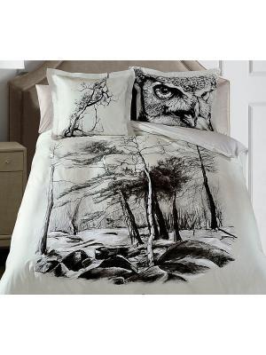 Ккомплект постельного белья 2сп (Nature) н(2)70*70 н(2)50х70 SL сатин панно Mona Liza. Цвет: серый