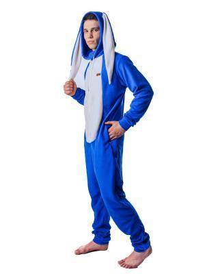 Домашний комбинезон Синий Заяц FUNKY BLUE BUNNY HOME SUIT RIDE. Цвет: синий