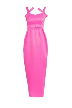 Платье из искусственного шелка 177160 Cyrille Gassiline. Цвет: розовый