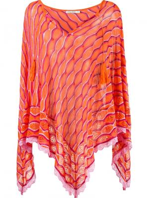 Knit poncho Cecilia Prado. Цвет: жёлтый и оранжевый