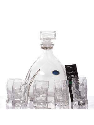 Подарочный набор для ликёра и водки: графин, 6 стопок Русские подарки. Цвет: прозрачный