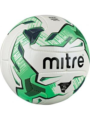 Мяч футбольный MITRE MONDE PLUS V12S FB FIFA QUALITY размер 5. Цвет: черный,салатовый,белый